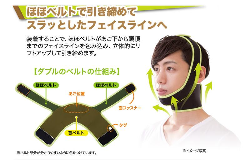 メンズ二重あごスッキリベルト フェイスライン メンズ 発汗 顔 たるみ シェイプ サウナベルト たるみ 改善 リフトアップ しわ たるみ ほうれい線 頬 たるみ リフトアップ 顔